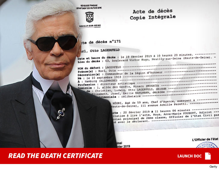 Karl Lagerfeld Death Certificate Cements French Legacy