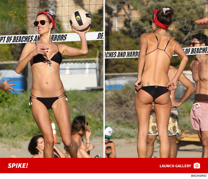 Alessandra Ambrosio Sexy Curves And Volleyball Serves