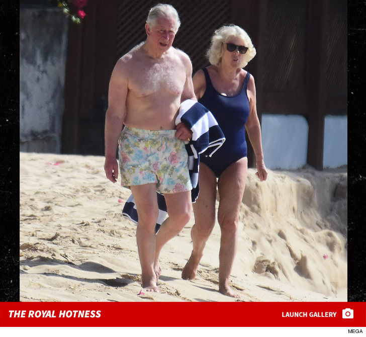 Prince Charles Rockin' His Spring Break Trunks With Camilla in Barbados