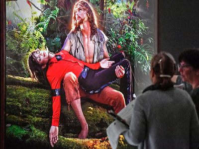 Michael Jackson Carried by Jesus, Standing on Devil in Art Exhibit