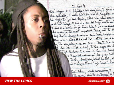 Lil Wayne's Notebook with Lyrics from 1999 for Sale at $250k
