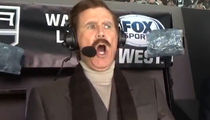 Will Ferrell as Ron Burgundy Calls LA Kings Game, It's Kind of a Big Deal