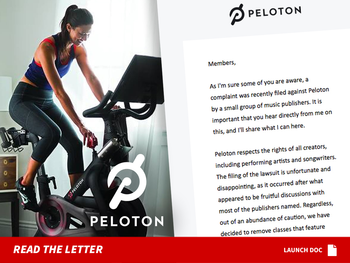 Peloton CEO Pulling Classes with Lawsuit Songs ... But We Have Plan B