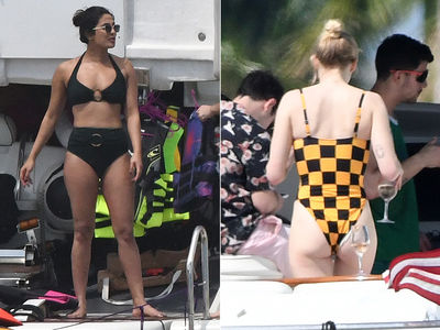 Priyanka Chopra, Sophie Turner Put Beach Bodies on Display in Miami