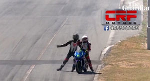 Pro Motorcycle Racers Suspended Over Insane Brawl On the Track!