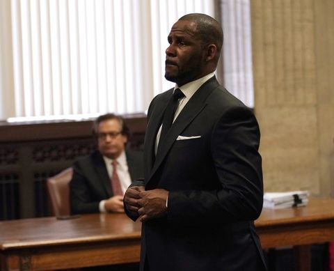 Singer R. Kelly appears in court at the Leighton Criminal Court Building on March 22, 2019 in Chicago, Illinois.
