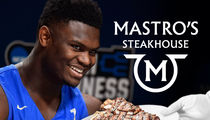 Zion Williamson & Duke Fuel Up On Fancy Steaks Before Virginia Tech Game