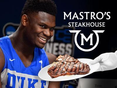 Zion Williamson & Duke Fuel Up On Fancy Steaks Before Virginia Tech Game