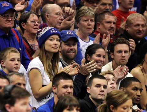 Olivia Wilde and Jason Sudeikis -- Kansas Jayhawks