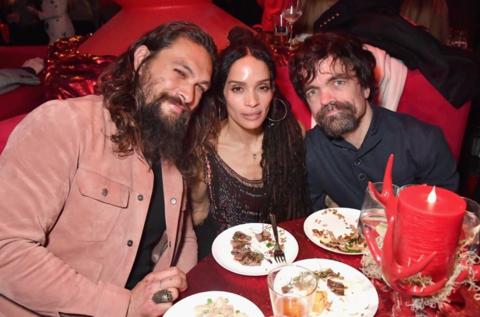 Jason Momoa, Lisa Bonet and Peter Dinklage