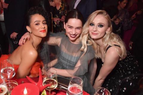 Nathalie Emmanuel, Emilia Clarke and Sophie Turner