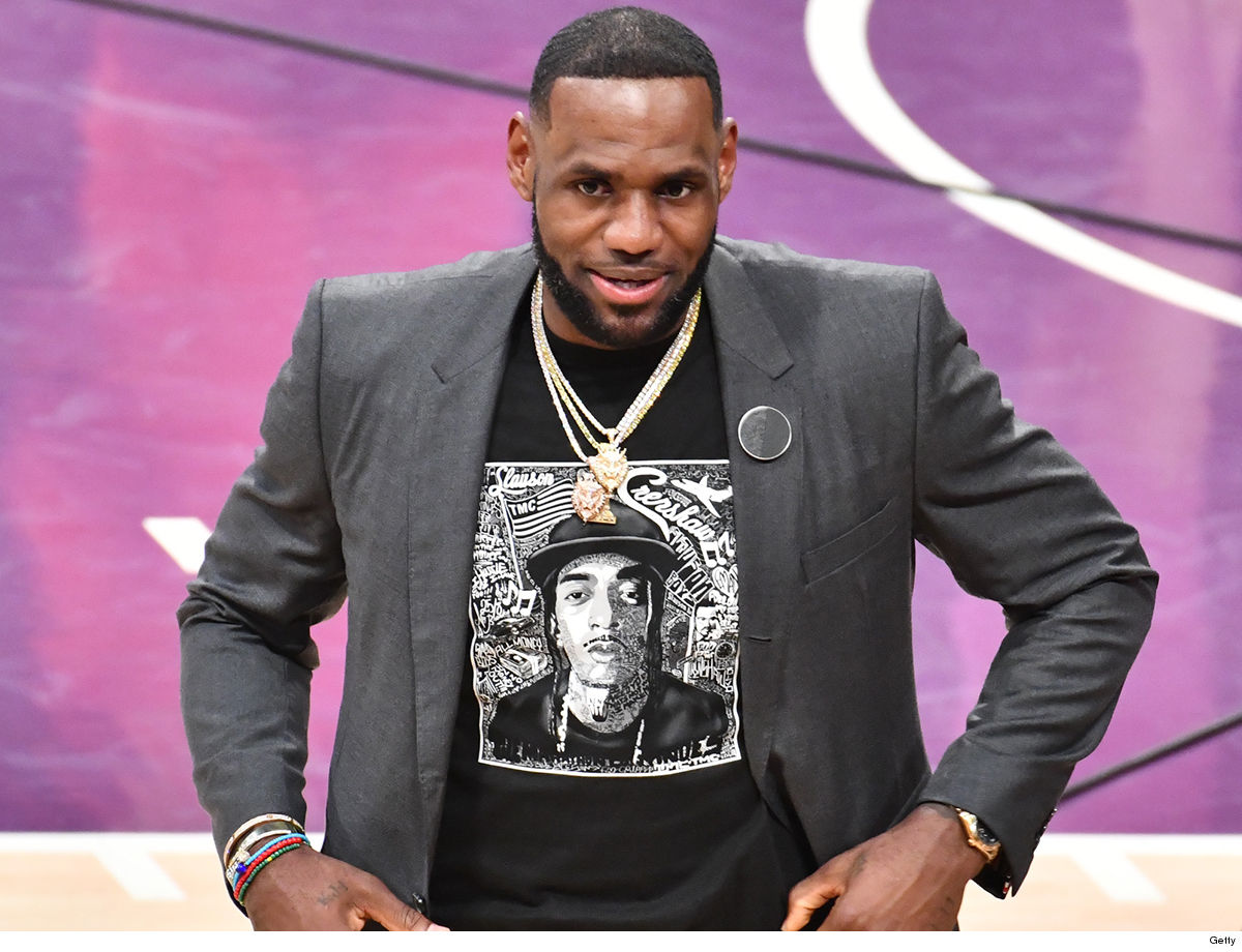 LeBron James Honors Nipsey Hussle At Lakers Game