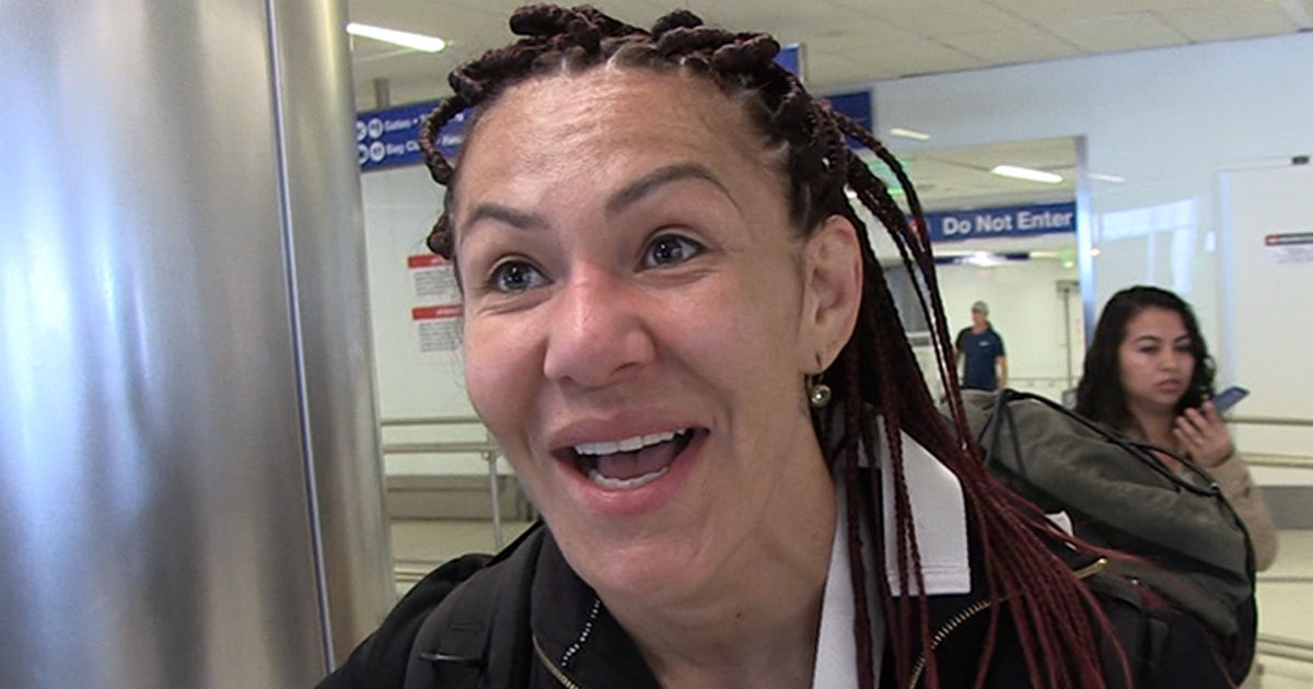 Cris Cyborg Rootin' For Ronda At WrestleMania ... She's Doing Great!!!