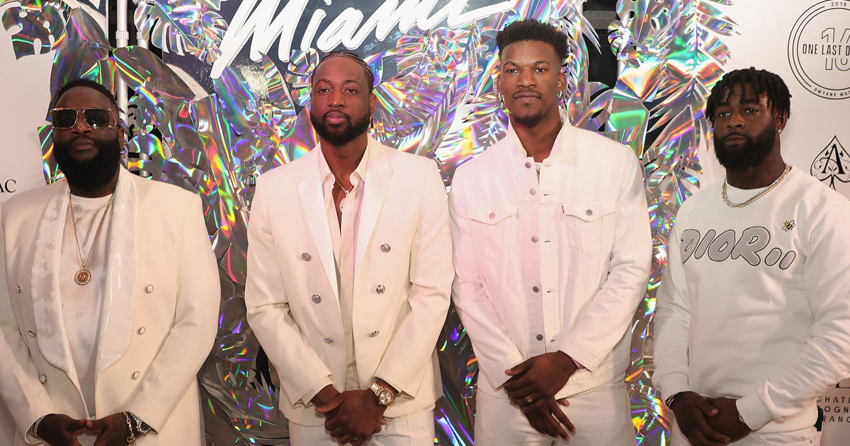 849323eaf Dwyane Wade s Super Famous Friends Honor NBA Star at Massive Miami Bash