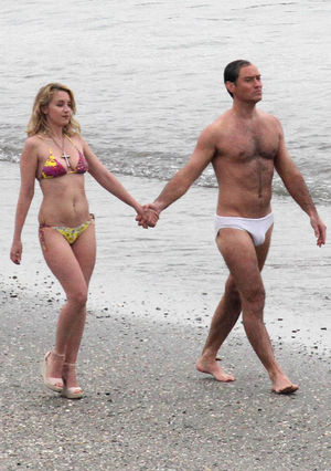 Jude Law Strips Down to Speedo for 'The New Pope'