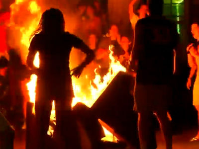 Virginia Fans Set Couches On Fire to Celebrate National Title