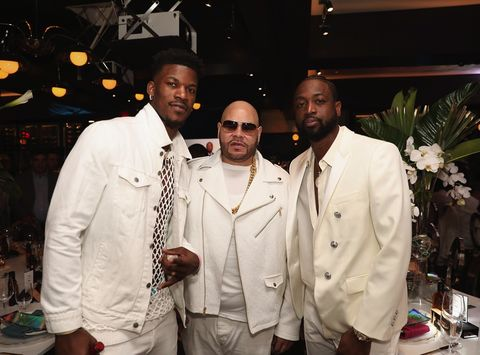Jimmy Butler, Fat Joe and Dwyane Wade