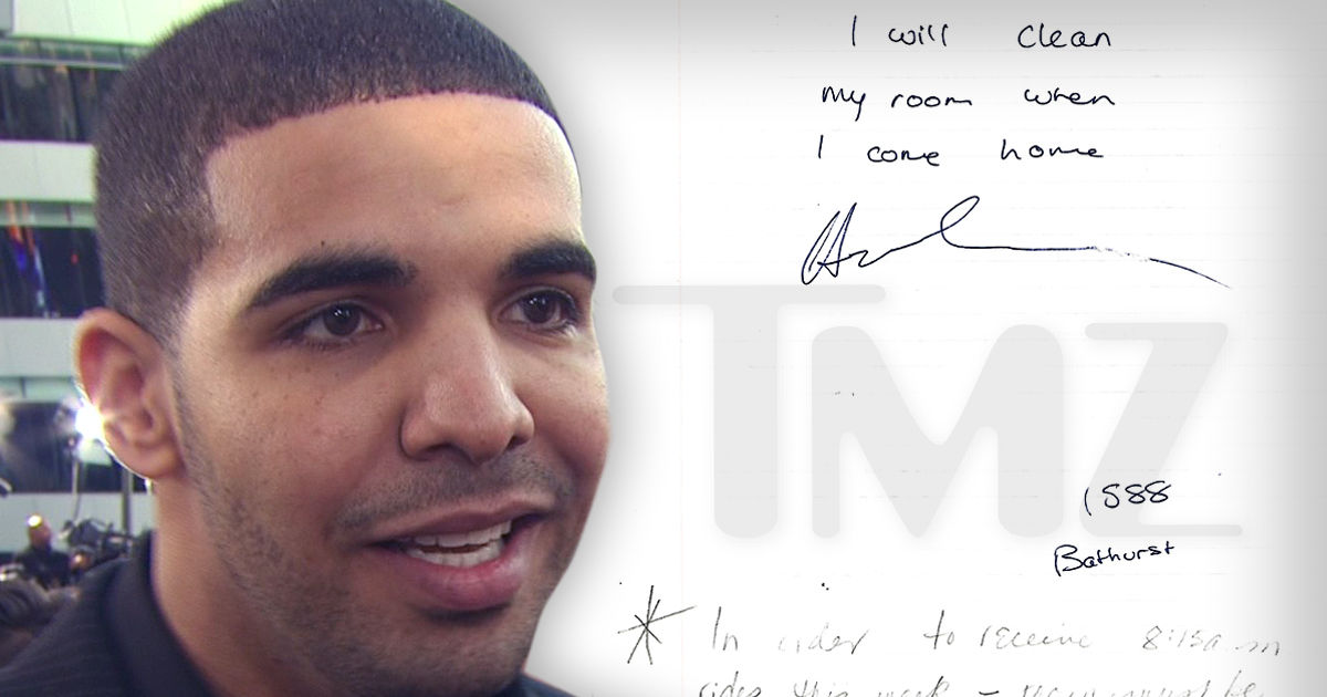 Drake's Note to His Mom, Bio From Old Rhyme Book For Sale ...