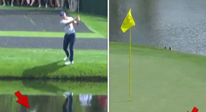PGA's Jordan Spieth Hits Insane Golf Shot, Skips Ball On Water!