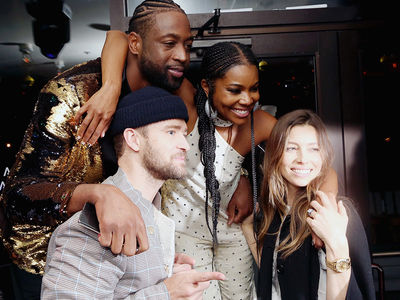 Dwyane Wade Parties with Justin Timberlake After Final NBA Game