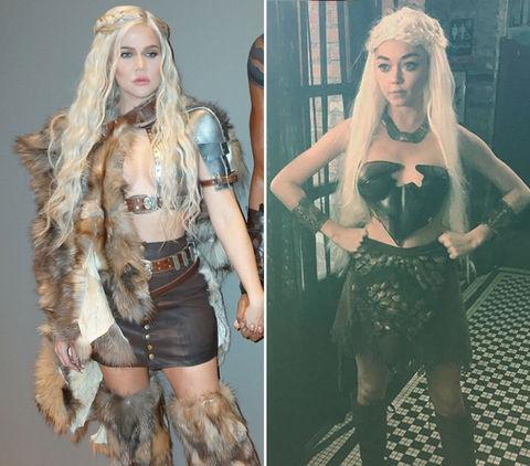 Khloe Kardashian (34) vs. Sarah Hyland (28) -- Khaleesi Cosplay Edition