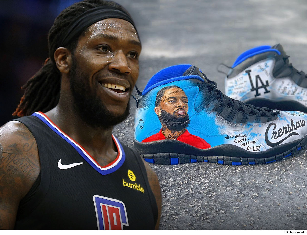 NBA's Montrezl Harrell Will Rock Nipsey Hussle Shoes in Playoffs 4