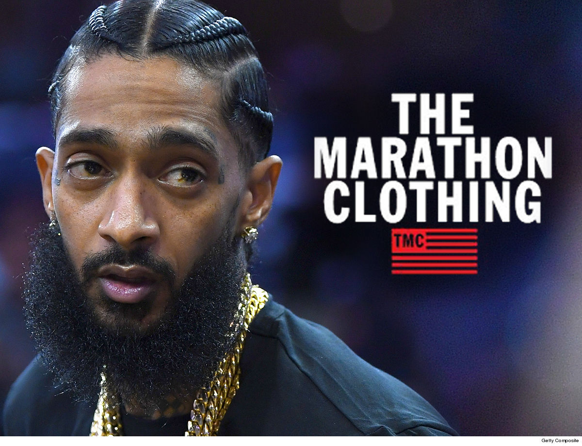 NIPSEY HUSSLE MARATHON MERCH SELLING OUT FAST!!! Thanks to Famous Friends