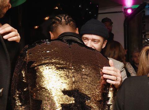 Dwyane Wade and Justin Timberlake