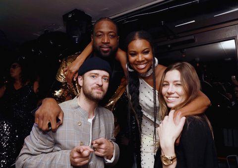 Dwyane Wade, Gabrielle Union-Wade, Justin Timberlake and Jessica Biell