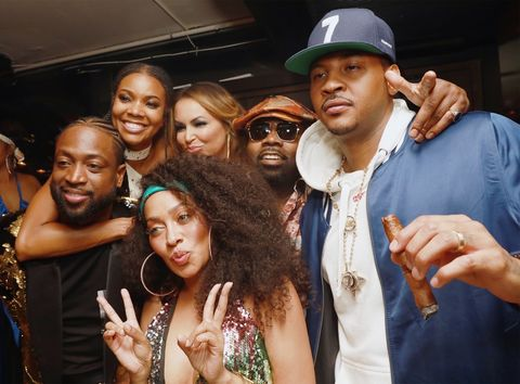 Dwyane Wade, Gabrielle Union-Wade, Lala Anthony and Carmelo Anthony