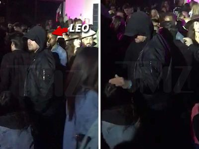 Leonardo DiCaprio Pets Lady's Head at Coachella After-Party