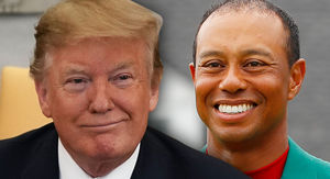 Donald Trump Awarding Tiger Woods with Presidential Medal of Freedom