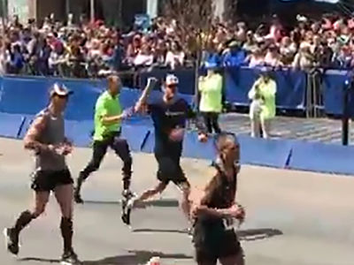 NASCAR's Jimmie Johnson Finishes Boston Marathon, Barely Misses 3 Hour Goal