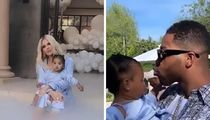 Khloe Kardashian, Tristan Thompson Reunite for True's 1st Birthday Bash