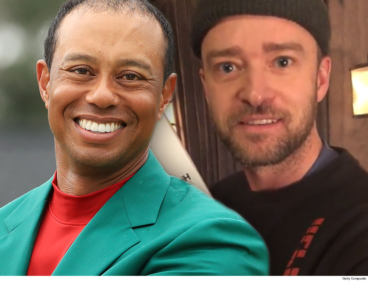 justin timberlake bonded with tiger woods over parenting