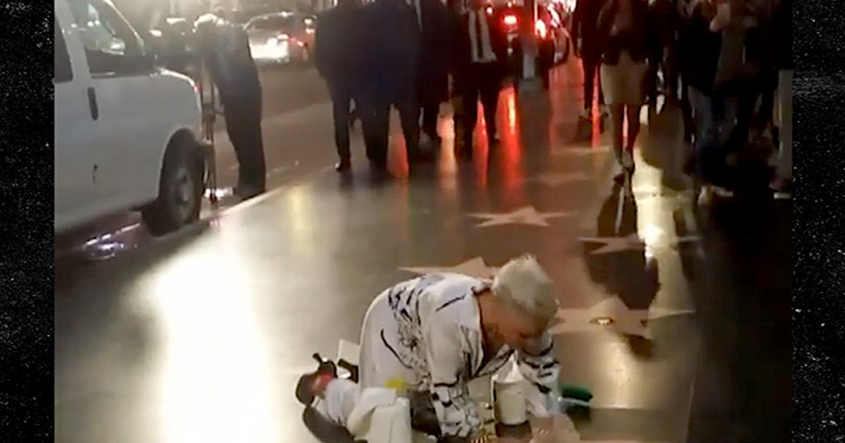 P!nk Cleans Her Hollywood Star Anything for You, Jimmy Kimmel!!!
