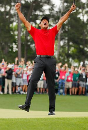 Tiger Celebrates 2019 Masters Win