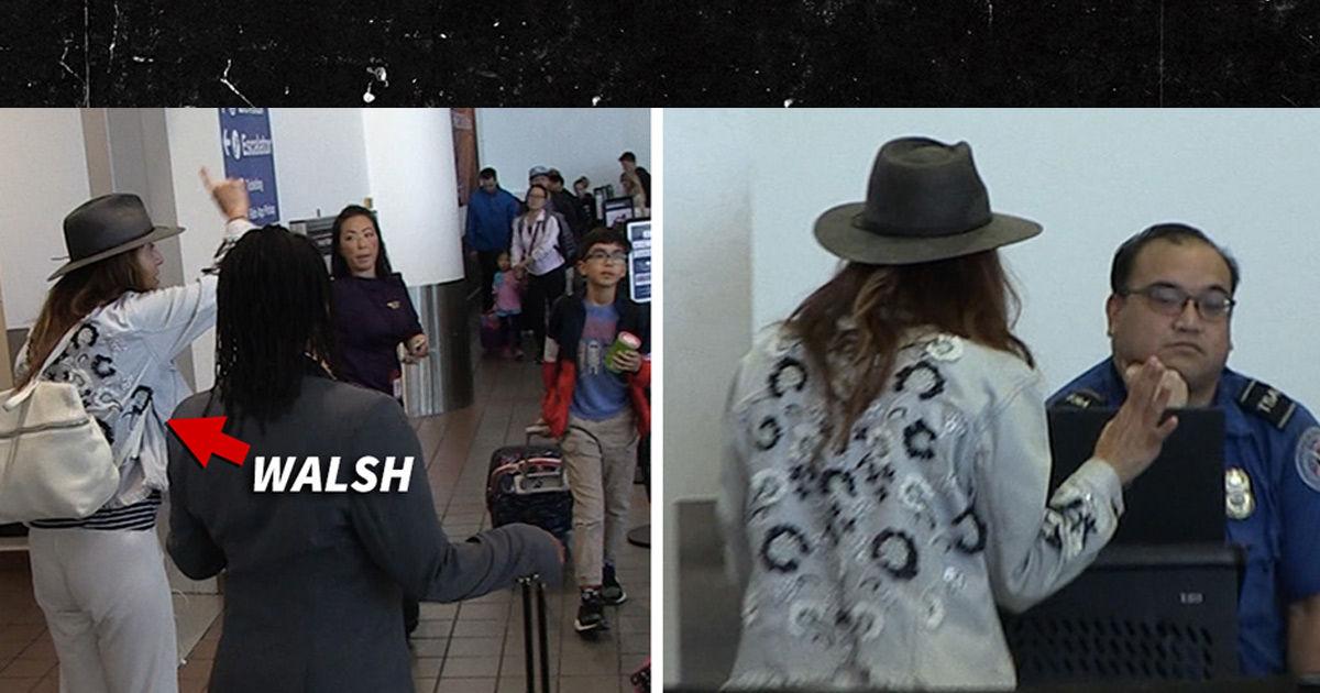 Kate Walsh Meltdown Mode at LAX Over Bag!!! TSA Couldn't Care Less