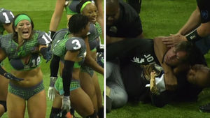 Legends Football League Fan Choked Out For Storming Field