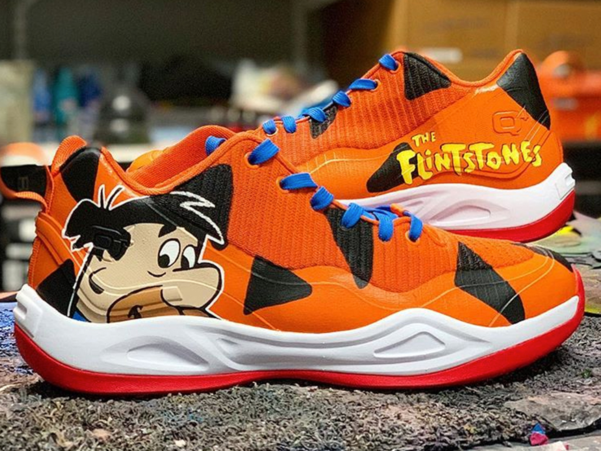 f91194d5590f Detroit Pistons guard Langston Galloway is goin  prehistoric with his  sneaks on Saturday ... copping a sick pair of Fred Flintstone shoes for his  big ...