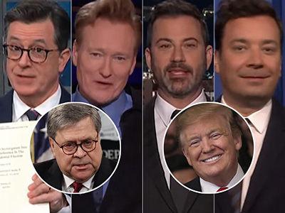 Late-Night Hosts Unpack 'Crazy' Redacted Mueller Report -- Not Seeing Trump Victory