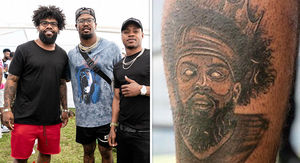 Ezekiel Elliott Gets Tattoo Of Himself On Himself