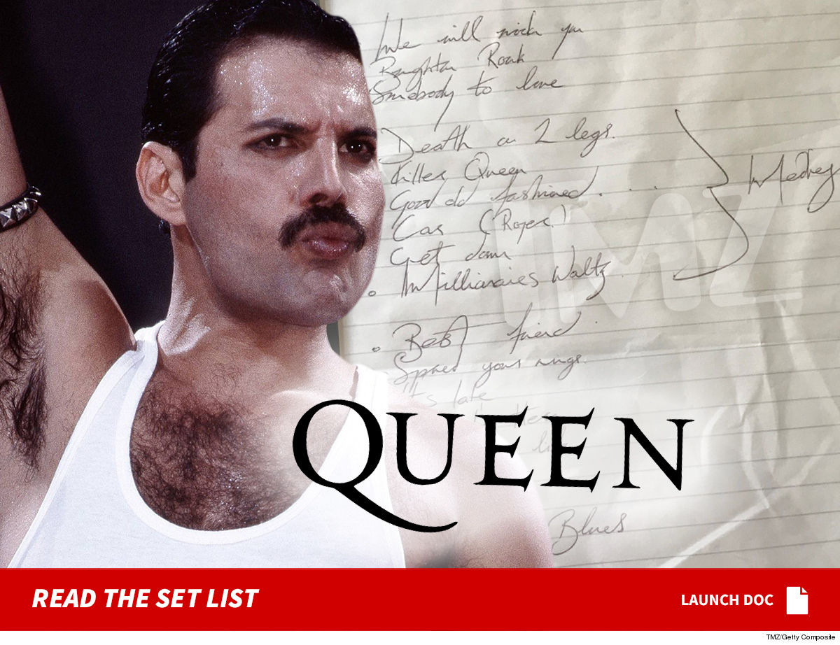 13481969fd One of the rarest pieces of Freddie Mercury memorabilia is now up for sale  ... and it s the only set list personally written by the Queen frontman to  ever ...