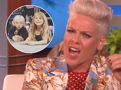 Pink CHOKES UP as She Reveals Why She Won't Post Her Kids on Social Media Anymore