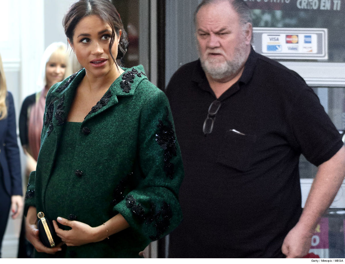 Meghan Markle Unwelcome Mat for Dad ... For Birth of First Child