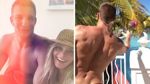 Rob Gronkowski Shows Back Surgery Scar On Bahamas Vacation