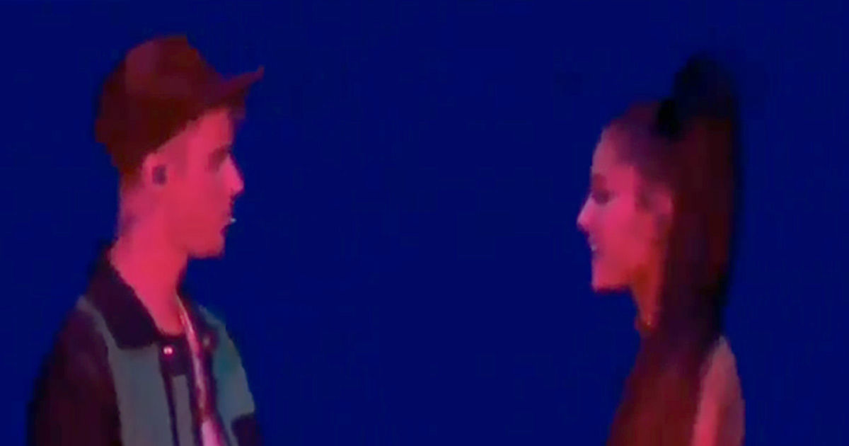 Justin Bieber Performs 'Sorry' During Ariana Grande Set at Coachella