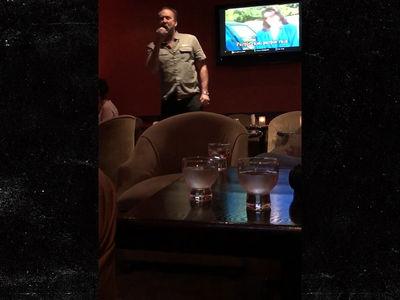 Nicolas Cage Angrily Sings 'Purple Rain' at Karaoke Bar After Filing Annulment