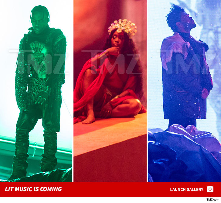 The Weeknd, SZA & Travis Scott 'GoT' Inspired Music Vid is Coming ... Check Out the BTS Shots