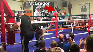 McGregor Takes A Cheap Shot In Dublin Boxing Match